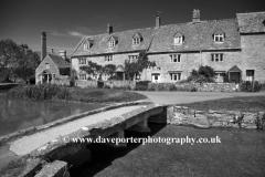 Cottages at Lower Slaughter village, Cotswolds