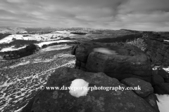 Wintertime on Burbage Rocks, Peak District