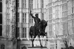 Richard I Statue-Houses of Parliment,, London