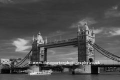 Tower Bridge, river Thames South Bank