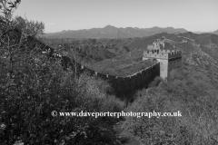 The Great Wall of China near Jinshanling village