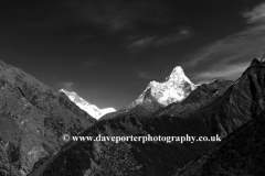 Snow Capped Ama Dablam mountain, Himalayas