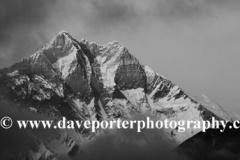 Snow Capped Lhotse mountain, Himalayas, Nepal