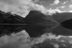 Fleetwith Pike fell, reflected in Buttermere