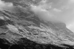 Snow on the North face of the Eiger, Swiss Alps