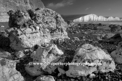 The 7 Sisters Chalk Cliffs, Seaford Head, Sussex