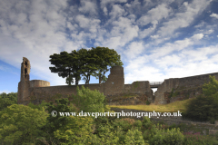 Spring, April, May, June,  The ruins of Barnard Castle, Barnard Castle Town, Teesdale, Durham County, England, Britain, UK