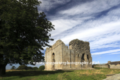 Spring, April, May, June,  The ruins of Bowes Castle, Bowes village, Teesdale, Durham County, England, Britain, UK