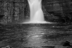 J02703 High Force Waterfall River Tees Upper Teesdale Durham County England UK