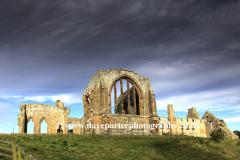 The ruins of Egglestone Abbey, near Barnard Castle Town, Teesdale, Durham County, England, Britain, UK