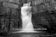 High Force Waterfall river Tees Durham