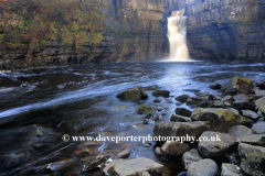 Spring, April, May, High Force Waterfall, River Tees, Upper Teesdale, Durham County, England, UK
