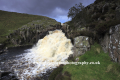 Cauldron Snout waterfall, river Tees, Moor House National Nature Reserve, Upper Teesdale, Durham County, England, Britain, UK