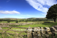 Landscape view over Middleton in Teesdale, Teesdale, Durham County, England, Britain, UK