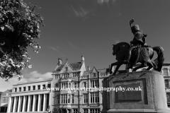Statue of Charles William Vane Stewart 1778 to 1854, Market Place, Durham City, County Durham, England