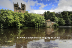 River Wear and Durham Cathedral, Durham City, County Durham, England.
