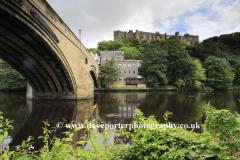 River Wear and Durham Castle, Durham City, County Durham, England.