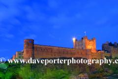 Dusk, Bamburgh Castle, Bamburgh village