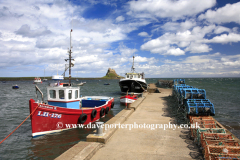 Fishing Boats Lindisfarne Castle; Holy Island