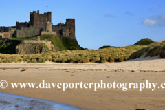 Sand paterns and Bamburgh Castle