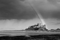 Rainbow and Storm over Bamburgh Castle