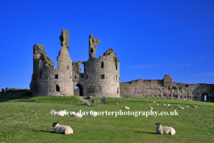 Entrance towers to Dunstanburgh Castle