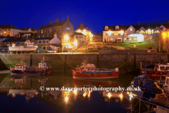 Dusk, Seahouses fishing Harbour