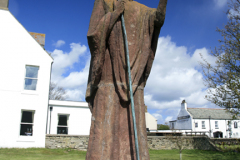 Statue of St Cuthbert, Lindisfarne Abbey