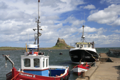 Fishing Boats in the Harbour, Lindisfarne Castle