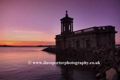 Sunset over Normanton church on Rutland Water