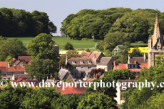 Summer view over Empingham village