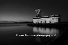 Normanton church at night, Rutland Water