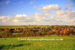 Autumn view over Barrowden village