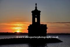 Sunset, Normanton church, Rutland Water