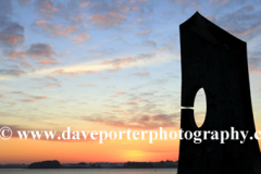 Sunset over the Great Tower, Rutland Water