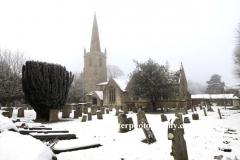 Winter snow, St Marys church, Edith Weston