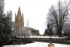 Winter snow, St Peters church, Empingham