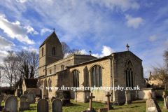 Spring, St Marys church, Morcott village