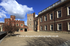 The facade of Eton College, Eton and Windsor