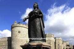 Queen Victoria Monument outside Windsor Castle