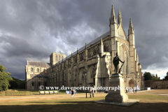 Summer view over Winchester Cathedral