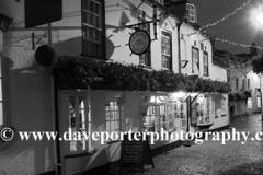 Cobbled streets at night, Quay Hill, Lymington town