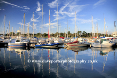 Boats in Lymington Harbour