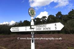 New Forest information sign, Bolderwood