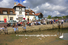 People at Lymington Harbour