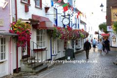 Cobbled streets, Quay Hill, Lymington town