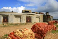 The exterior of Hurst Castle, Hurst Spit