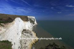 Summer June, July, White Cliffs of Dover, Dover town; Kent; England, Uk