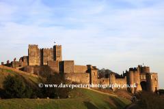 Summer June, July, Dover Castle, Dover Town, Kent County; England; UK