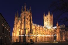 West and South elevations of Canterbury Cathedral